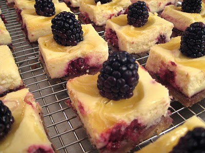 Dining With the Doc: Lemon Blackberry Cheesecake Bars