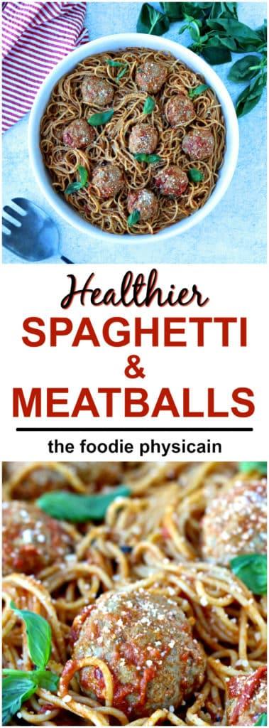 Recipe Resuscitation: A Healthier Spaghetti & Meatballs | @foodiephysician