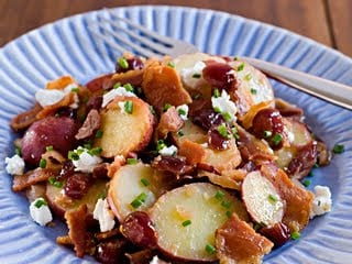 Dining With the Doc: Country Style Potato Salad with Pancetta, Goat Cheese & Dried Cranberries