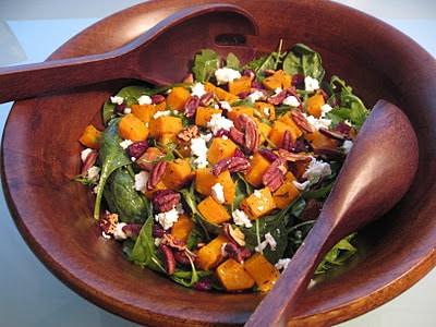 Dining with the Doc: Roasted Butternut Squash Salad with Maple Dijon Vinaigrette