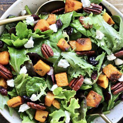 Roasted Butternut Squash Salad with Maple Dijon Vinaigrette