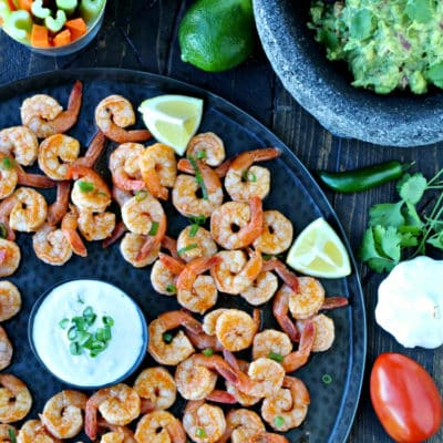 Super Bowl Snacks: Grilled Buffalo Shrimp & Game Day Guacamole