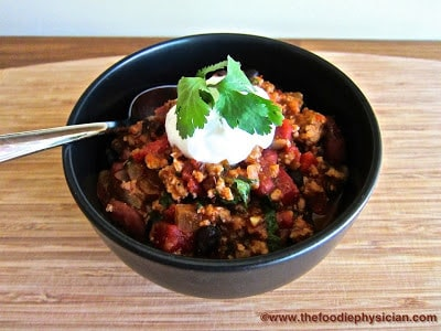 Dining with the Doc: Turkey and Bean Chili