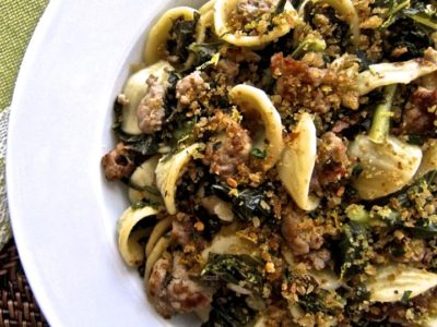 Dining with the Doc: Orecchiette with Kale, Turkey Sausage and Gremolata Breadcrumbs