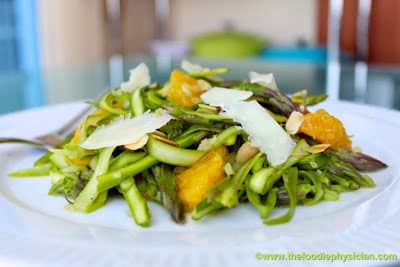 Dining with the Doc: Shaved Asparagus Salad with Oranges, Almonds and Manchego