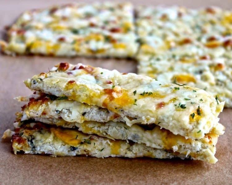 Super Bowl Sunday- Cauliflower Cheesy Bread