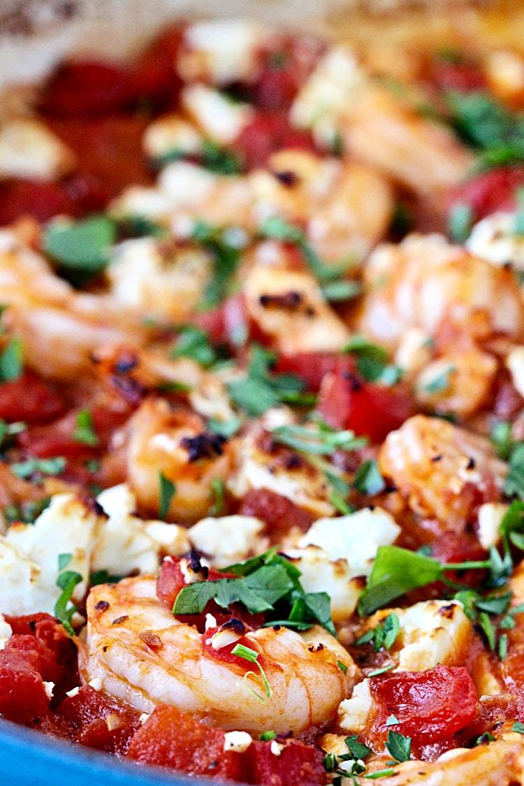 Greek Feta Shrimp Skillet