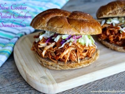 Cook Once, Eat Twice: Slow Cooker Pulled Chicken Sandwiches