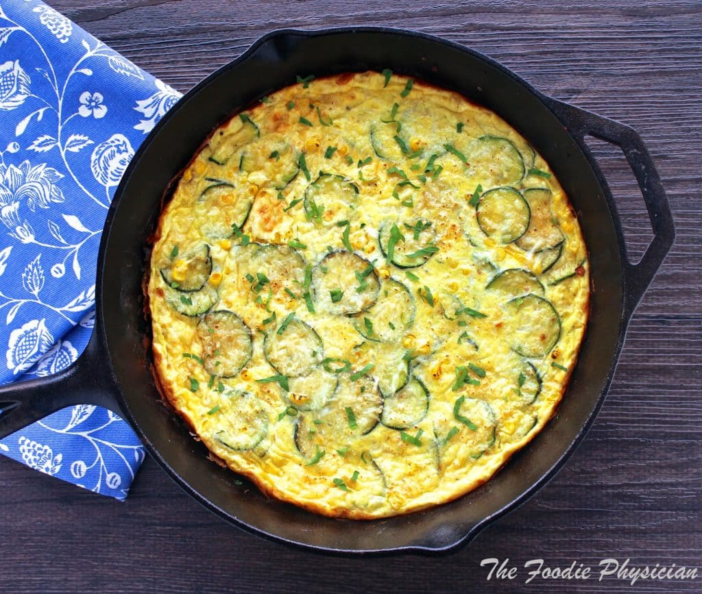 Dining With The Doc Summer Zucchini And Corn Frittata The Foodie Physician