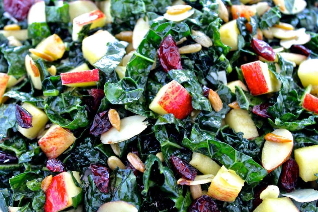 Tuscan Kale and Apple Salad | @foodiephysician