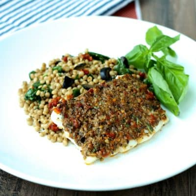 Dining with the Doc: Olive and Sundried Tomato Crusted Fish