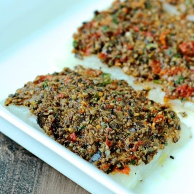 My Olive and Sundried Tomato Crusted Fish