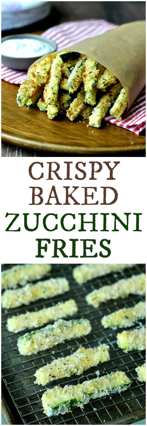 Crispy Baked Zucchini Fries | @foodiephysician