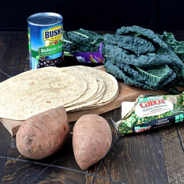 #quesadilla #cabotcheese #sweetpotato #kale