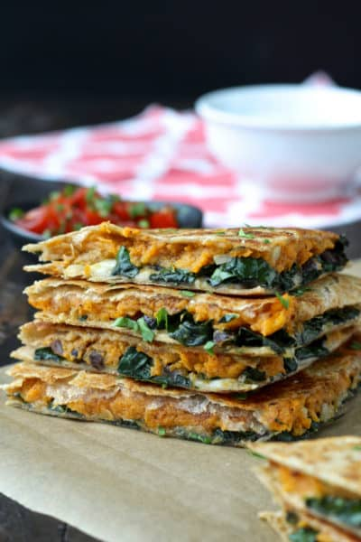 Cooking with Sienna: Sweet Potato and Kale Quesadillas