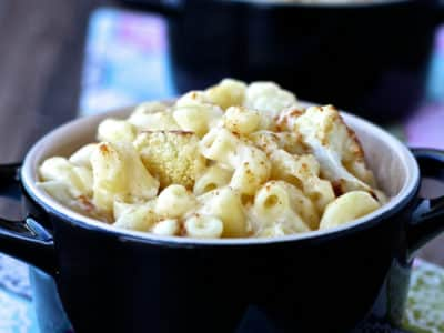 Cooking with Sienna: Mac and Cheese with Roasted Cauliflower