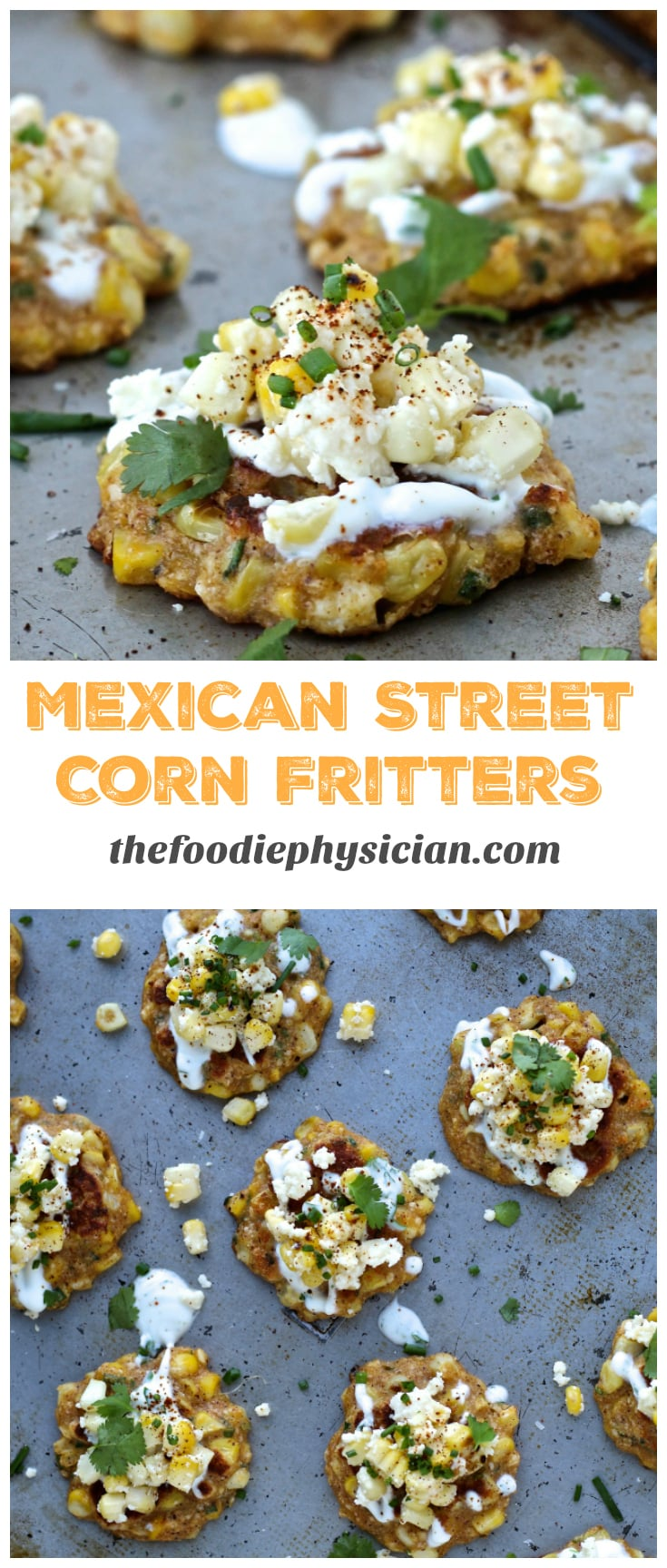 Mexican Street Corn Fritters | @foodiephysician