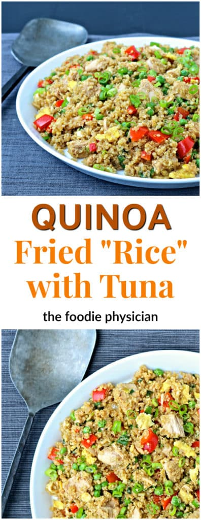 "Quinoa Fried ""Rice"" with Tuna 