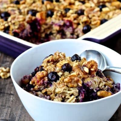 Blueberry Apple & Walnut Baked Oatmeal