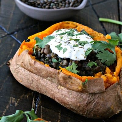 Dining with the Doc: Curried Coconut Lentil Stuffed Sweet Potato Bowls