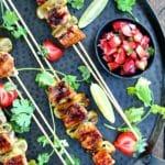 Dining with the Doc: Strawberry Teriyaki Salmon Kebabs with Strawberry Jalapeño Salsa