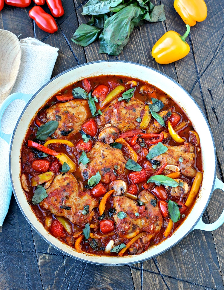 Quick & Easy Chicken Cacciatore | @foodiephysician
