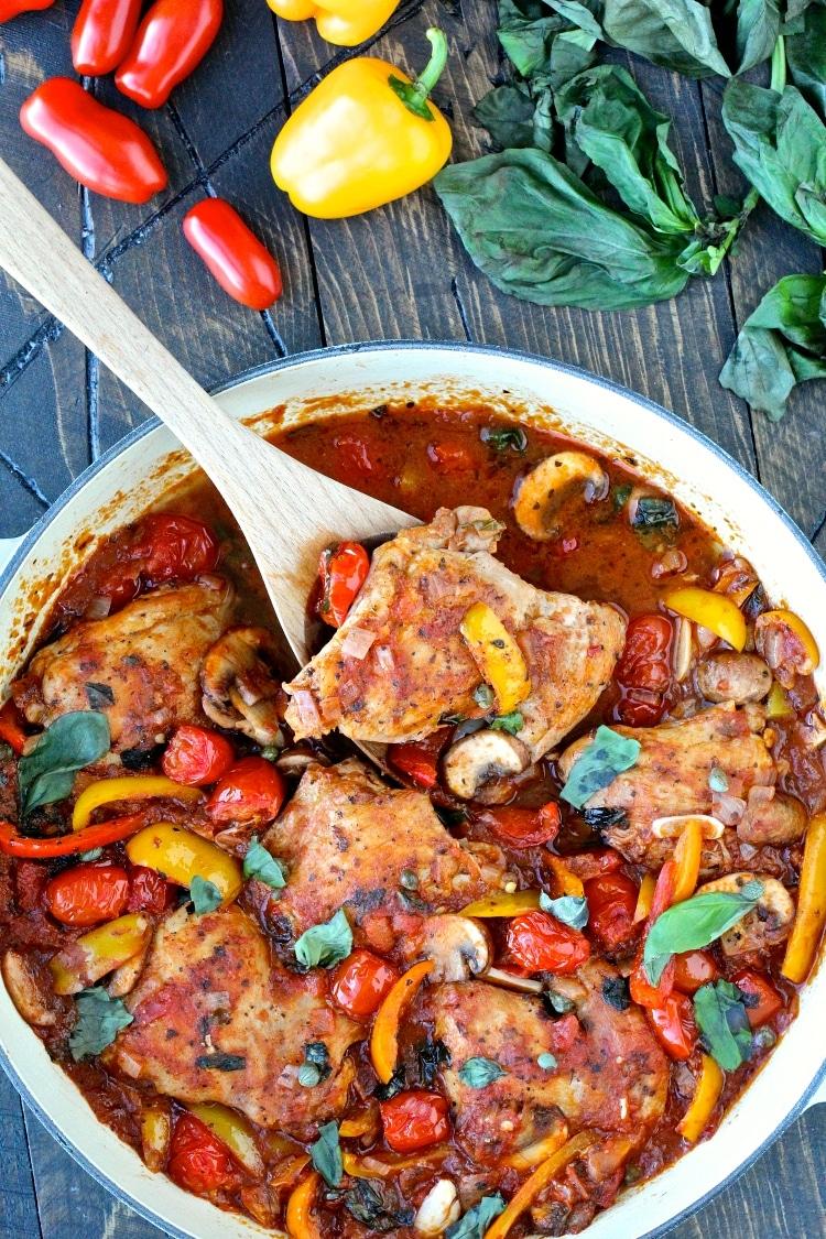 Quick & Easy Chicken Cacciatore   @foodiephysician