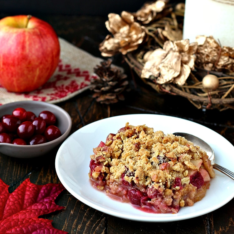 Apple Cranberry Crisp | The Foodie Physician