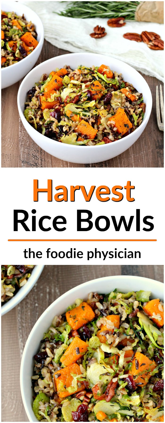 Harvest Rice Bowls- whole grains bowls that are packed with fresh flavor and nutritious ingredients! | @foodiephysician