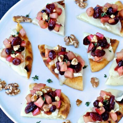 Holiday Naan Crostini