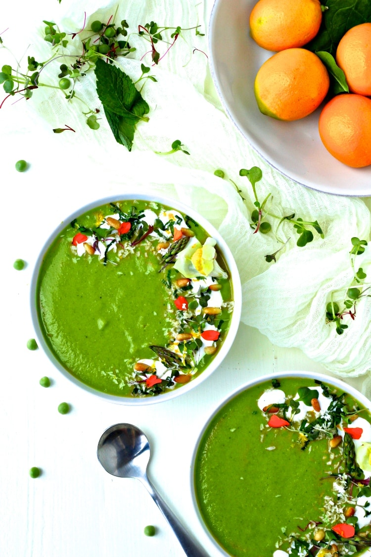 Green Spring Vegetable Soup | @foodiephysician