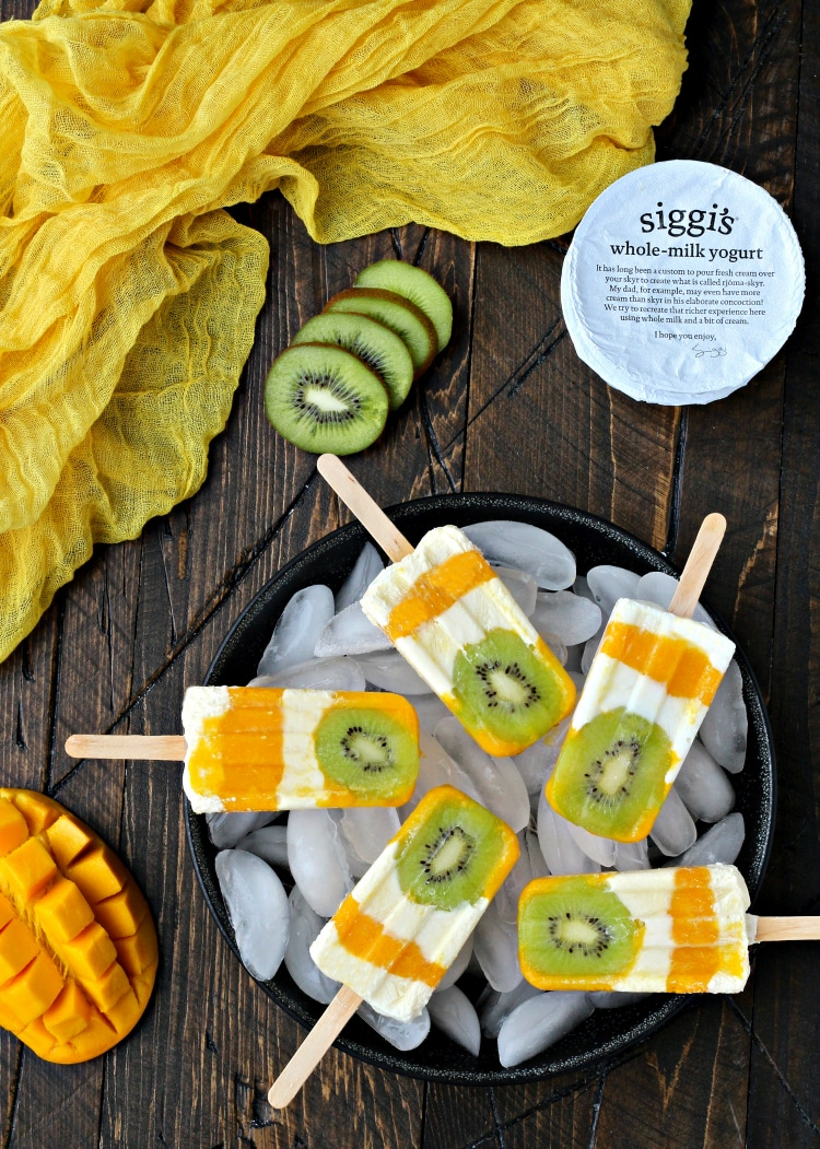 Tropical Sunshine Popsicles   @thefoodiephysician