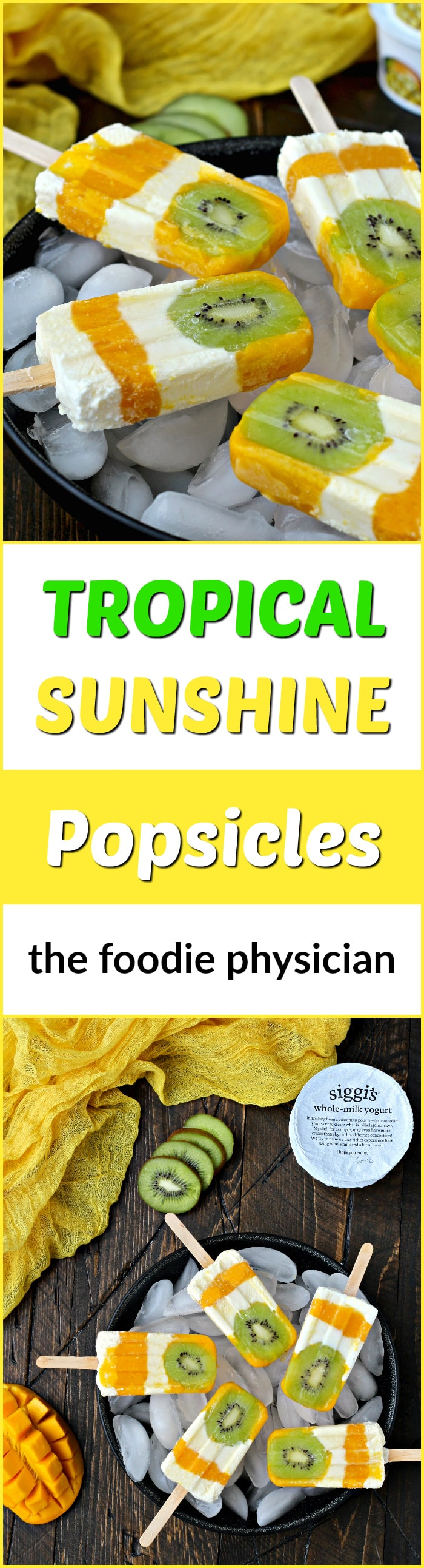 Healthy Eating Habits & Tropical Sunshine Popsicles | @thefoodiephysician