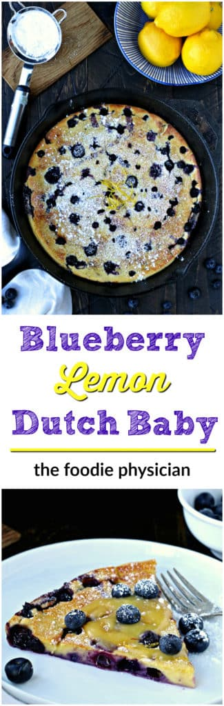 Blueberry Lemon Dutch Baby | @foodiephysician