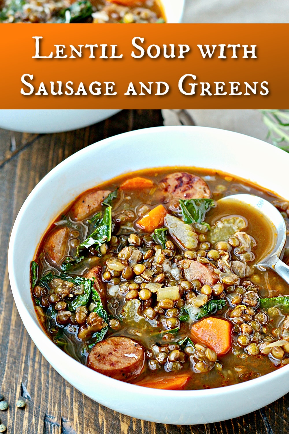 Lentil Soup with Sausage and Greens