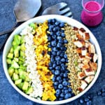 Southwest Blueberry Cobb Salad | @foodiephysician