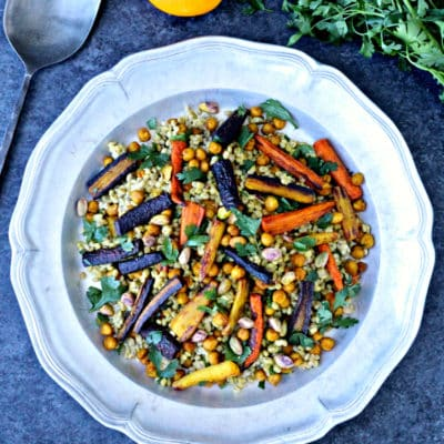 Barley Salad with Roasted Carrots and Chickpeas
