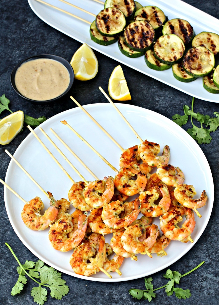 Coconut Curry Shrimp Kebabs | @foodiephysician