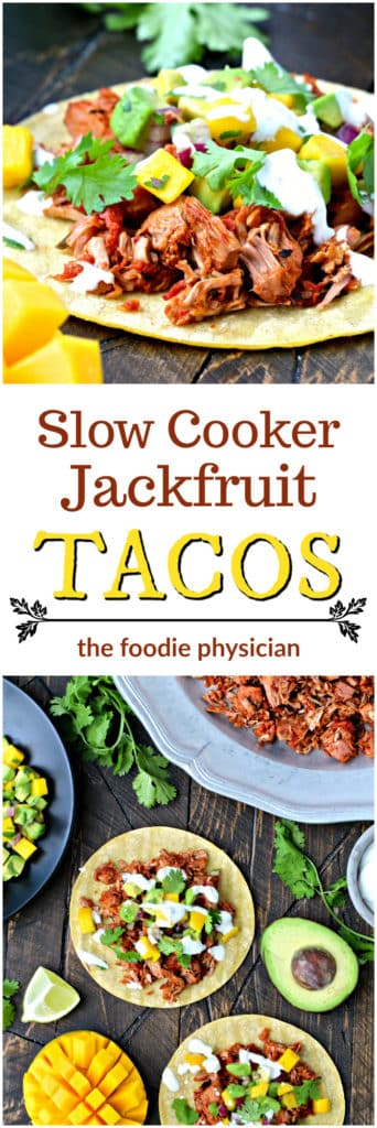 Slow Cooker Jackfruit Tacos | @foodiephysician