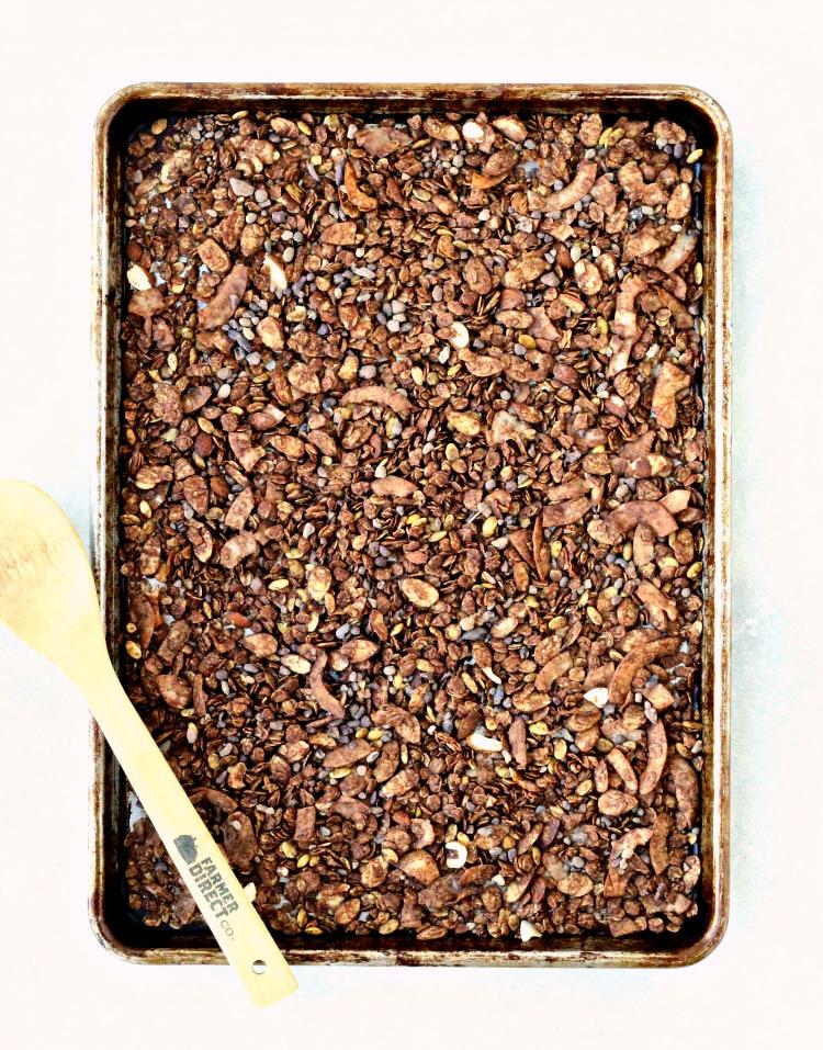 Chocolate Coconut Almond Granola | @foodiephysician