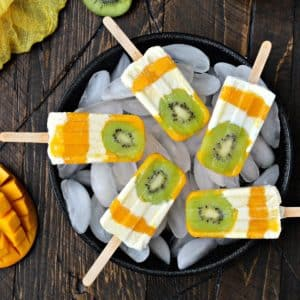 Tropical Sunshine Popsicles