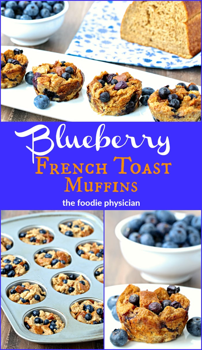 Make back-to-school lunches a lot easier with these nutritious Blueberry French Toast Muffins! | @foodiephysician