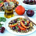 Quinoa Salad with Stone Fruit Featuring Olive Oils from Spain