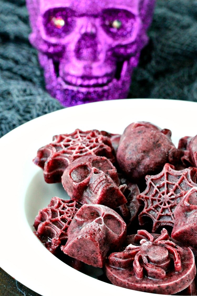 Frightening Frozen Blueberry Bites