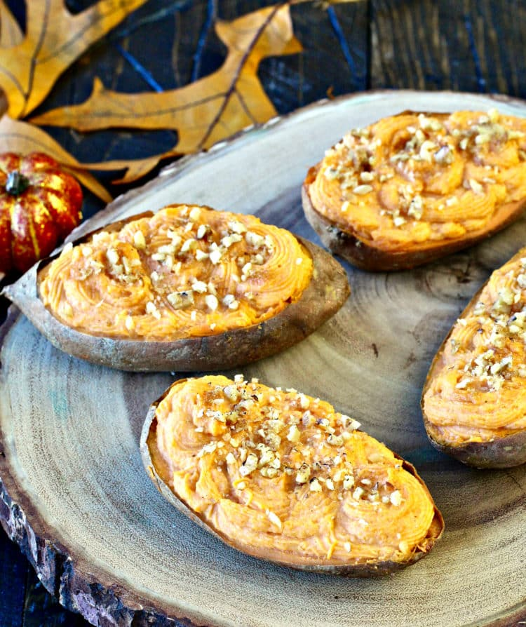 Twice Baked Sweet Potatoes | The Foodie Physician