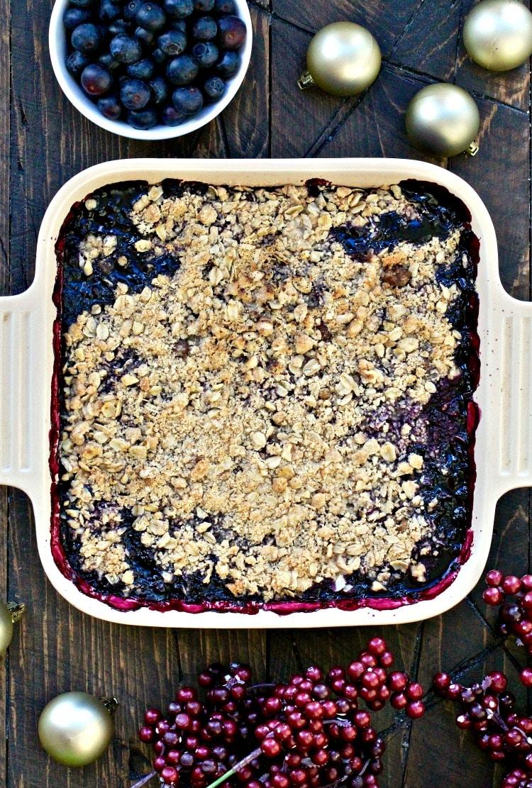 Blueberry Walnut Crumble