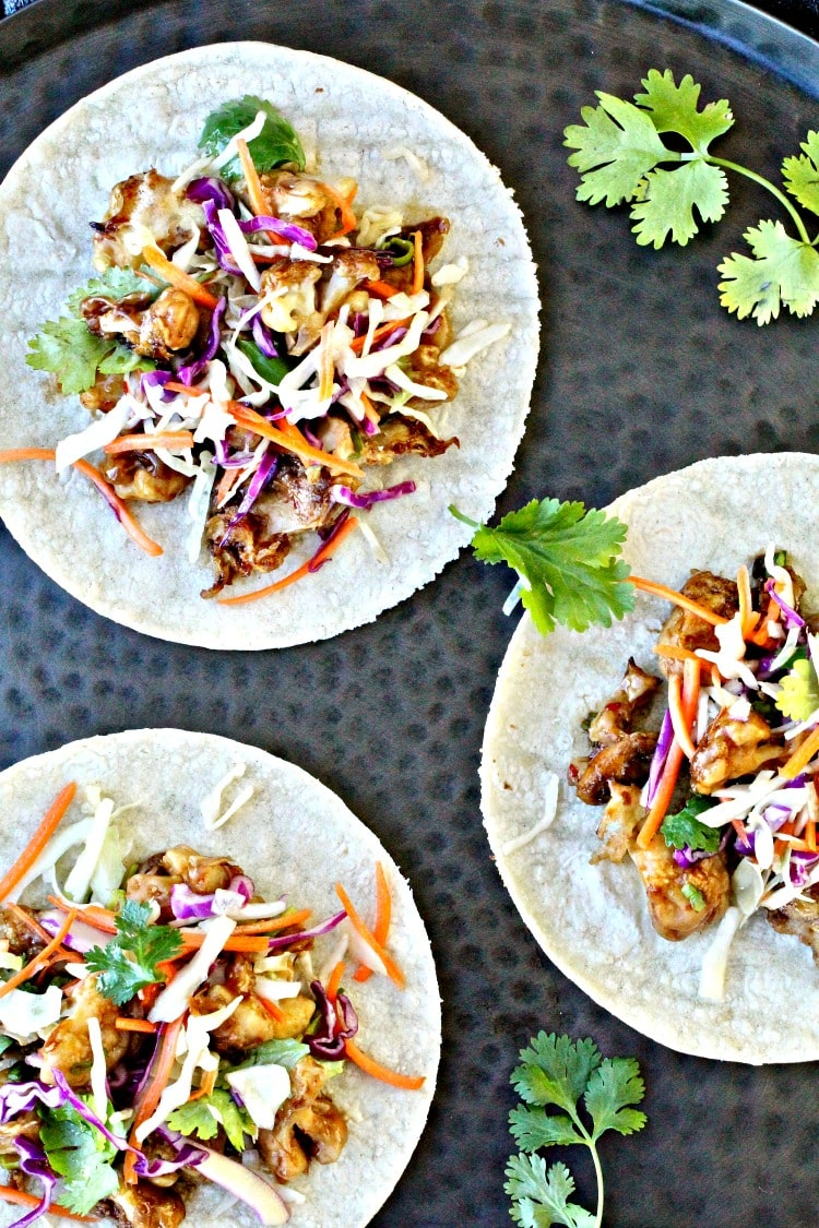 Asian Crispy Cauliflower Tacos