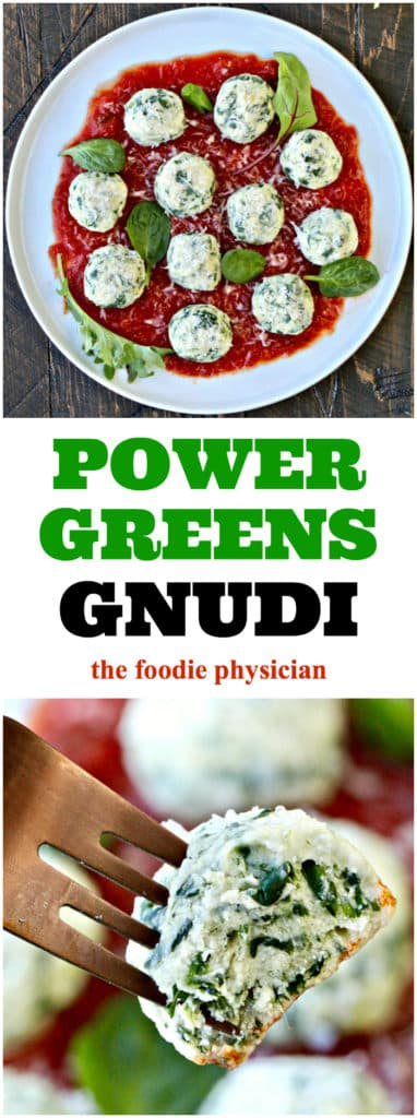 "These Power Greens Gnudi aka ""naked ravioli"" are fluffy balls of deliciousness!"