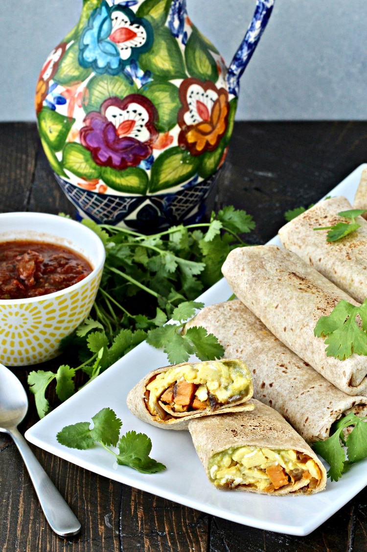 Ultimate Breakfast Burritos with Sweet Potato Hash