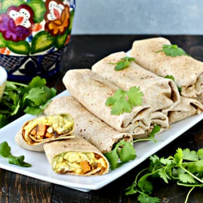 ultimate breakfast burritos with sweet potato hash the foodie